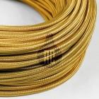 Kábel dvojžilový v zlatej farbe, bavlna, 2 x 0.75mm, 1 meter (1)