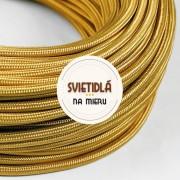 Kábel-dvojžilový-v-zlatej-farbe-bavlna-2-x-0.75mm-1-meter-1