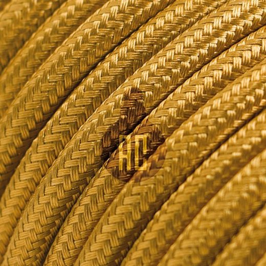 Kábel dvojžilový v zlatej farbe, bavlna, 2 x 0.75mm, 1 meter (2)