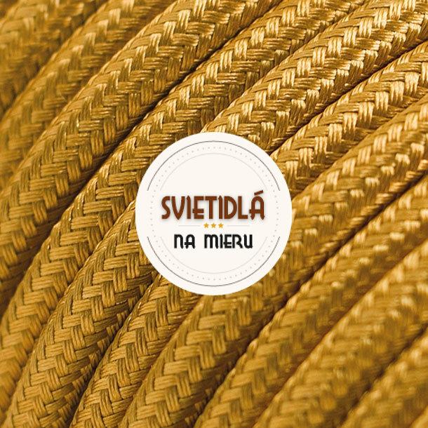 Kábel-dvojžilový-v-zlatej-farbe-bavlna-2-x-0.75mm-1-meter-2