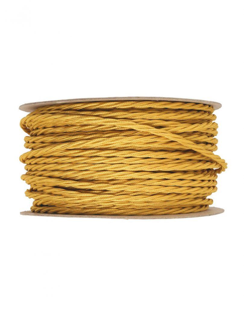 Kábel-dvojžilový-skrútený-v-podobe-textilnej-šnúry-v-jantárovo-zlatej-farbe-2-x-0.75mm-1-meter-1