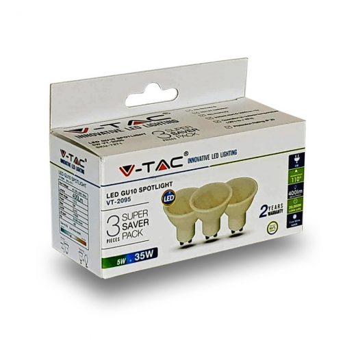 LED žiarovka GU10, 5W, denná biela, 320lm, zvýhodnené balenie 3ks (2)