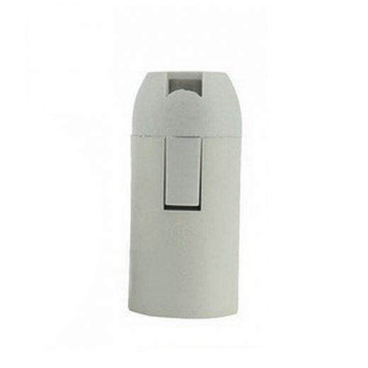 Plastová základná objímka E14 • biela (1)