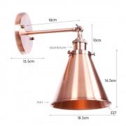 Retro nástenné svietidlo Home v medenej farbe (2)
