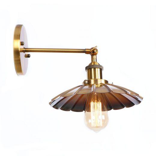 Retro nástenné svietidlo Rustic v bronzovej farbe (1)