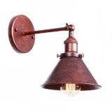 Retro nástenné svietidlo Wrount v staro medenej farbe (1)