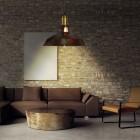 Retro závesné svietidlo Bar v hrdzavej farbe (1)