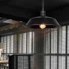 Retro závesné svietidlo Restaurant v čiernej farbe (2)