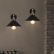 Historické nástenné svietidlo s tmavým tienidlom s otočným spínačom (5)