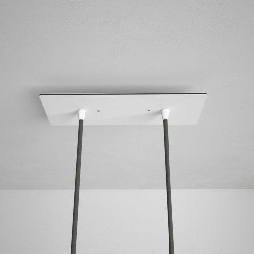 Obdĺžniková-stropná-rozeta-30-x-12-cm-s-2-otvormi-kovová-biela-farba-3
