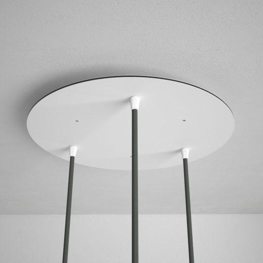 Okrúhla-stropná-rozeta-35-cm-s-3-otvormi-kovová-biela-farba-1
