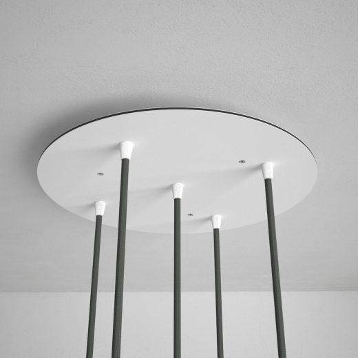 Okrúhla-stropná-rozeta-35-cm-s-5-otvormi-kovová-biela-farba-3