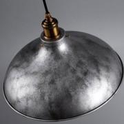 Retro závesné svietidlo America so striebornou vintage úpravou (3)