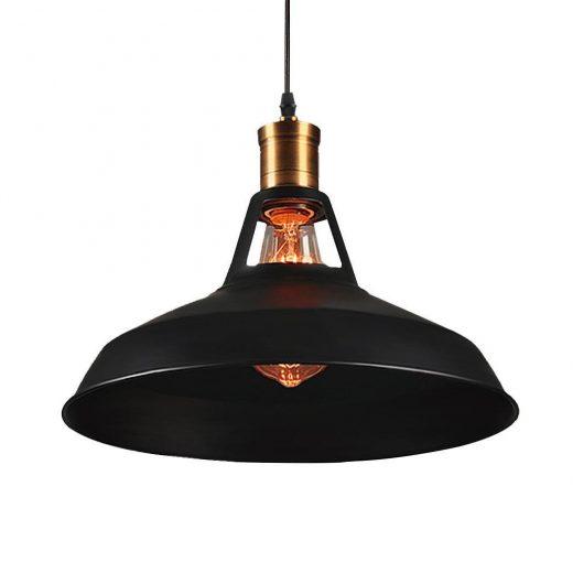 Retro závesné svietidlo Bar v čiernej farbe na žiarovky typu E27 (2)