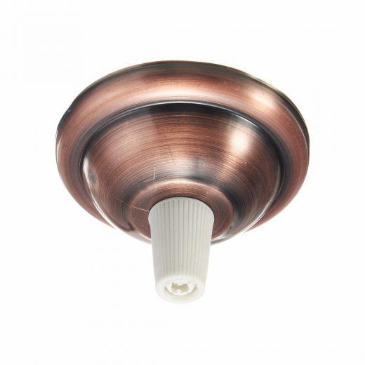 Závesná okrúhla stropná rozeta s bielym plastovým zámkom • kovová • staro medená