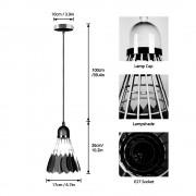 Závesné kreatívne svietidlo Bedminton v čiernej farbe (1)