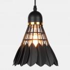 Závesné kreatívne svietidlo Bedminton v čiernej farbe (2)