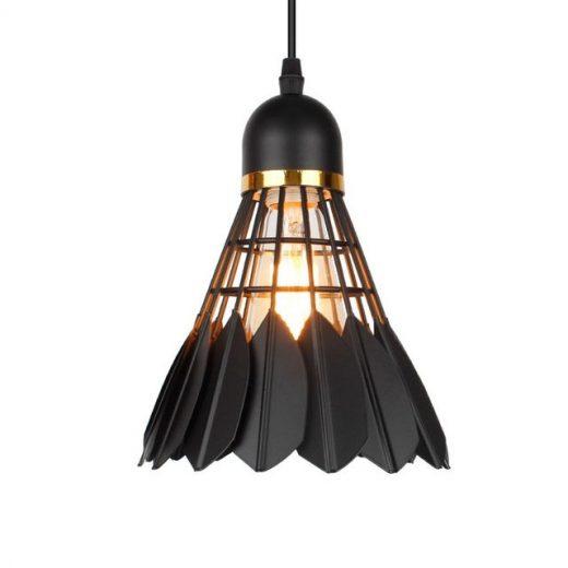 Závesné kreatívne svietidlo Bedminton v čiernej farbe (3)