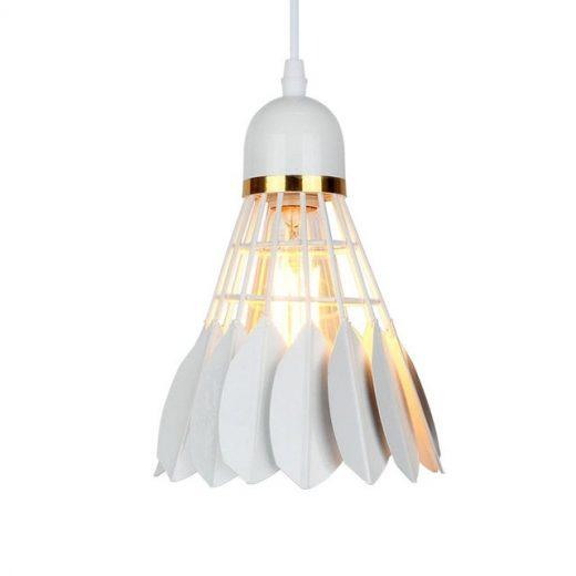 Závesné kreatívne svietidlo Bedminton v bielej farbe (4)