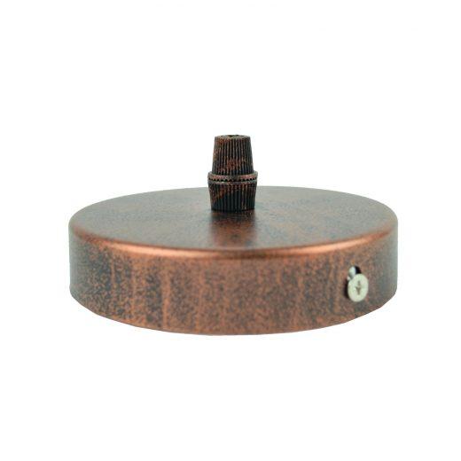 Závesný okrúhly stropný držiak • kovový • staro medená (1)