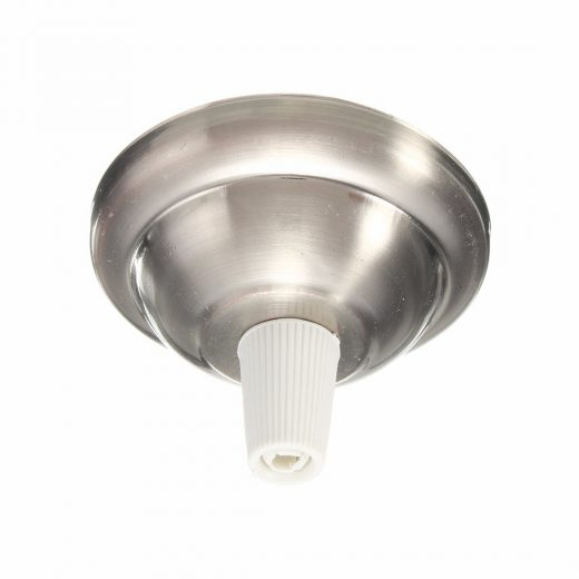 Závesný-okrúhly-stropný-držiak-s-bielym-plastovým-zámkom-•-kovový-•-niklová