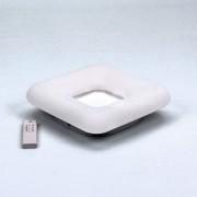 Štvorcový LED stropný luster, 26W, 3 farby svetla, 30 x 30 x 8cm (1)