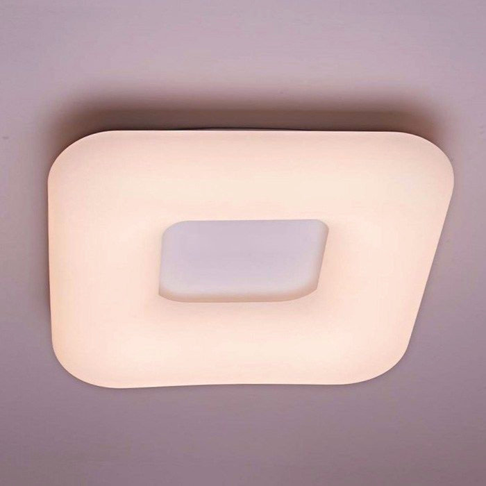 Štvorcový LED stropný luster, 26W, 3 farby svetla, 30 x 30 x 8cm (2)