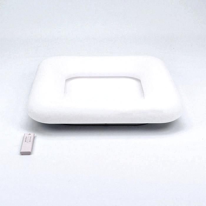 Štvorcový LED stropný luster, 42W, zmena farby, 60 x 60 x 11,5cm, stmievateľný - biela farba (1)