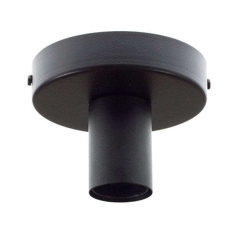 Kovová objímka na stenu alebo strop, čierna farba (1)