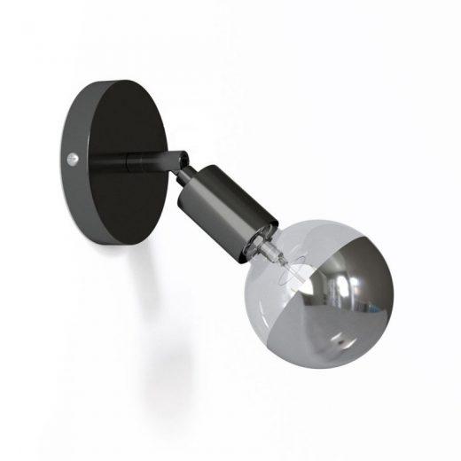 Kovová prispôsobiteľná lampa na stenu alebo strop, čierno perleťová (1)