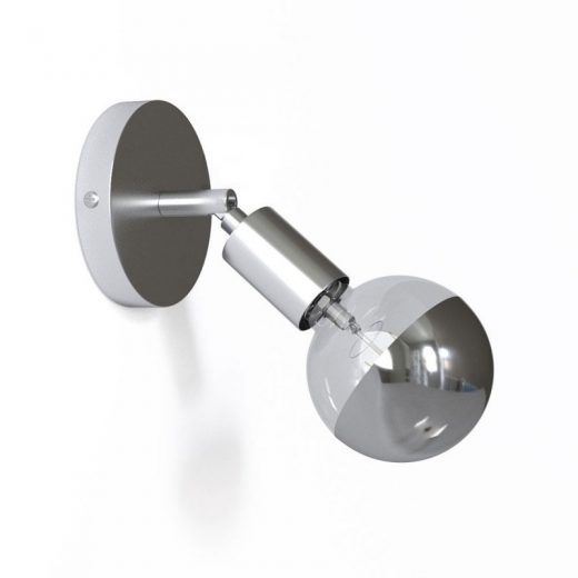 Kovová prispôsobiteľná lampa na stenu alebo strop, chrómová (1)
