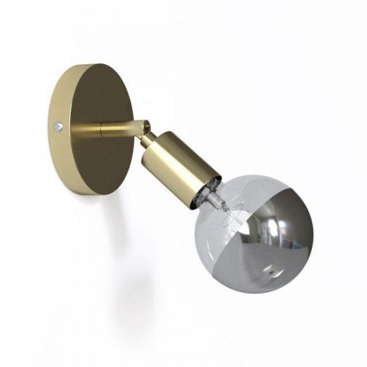 Kovová prispôsobiteľná lampa na stenu alebo strop, mosádzna farba (2)