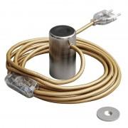 Magnetické svietidlo Magnetico®-Plug, kartáčovaný kov (3)