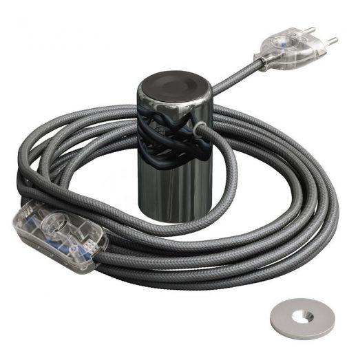 Magnetické svietidlo Magnetico®-Plug, tmavá chrómová farba (2)