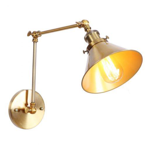 Nástenná historická lampa Provence v zlatej farbe (4)