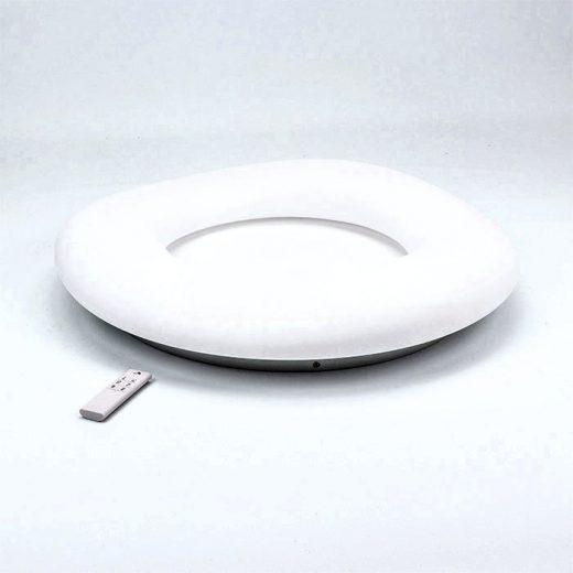Okrúhly LED stropný luster, 80W, zmena farby, 75 x 12cm, stmievateľný - biela farba (1)