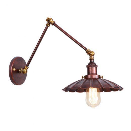 Starodávna nástenná lampa Chester, staro medená farba (3)