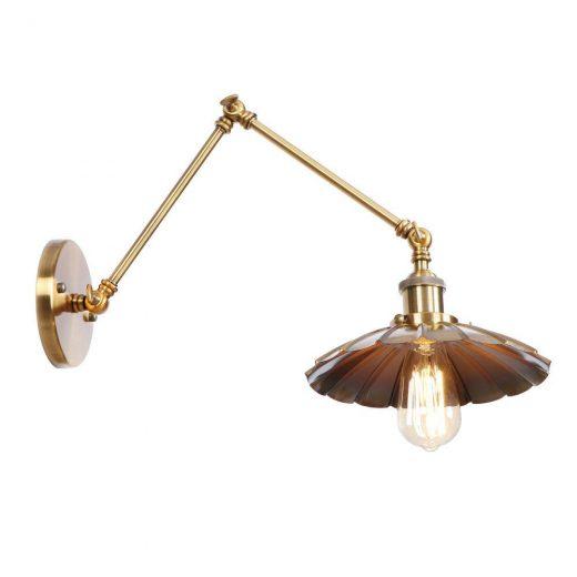 Starodávna nástenná lampa Chester, zlatá farba (5)