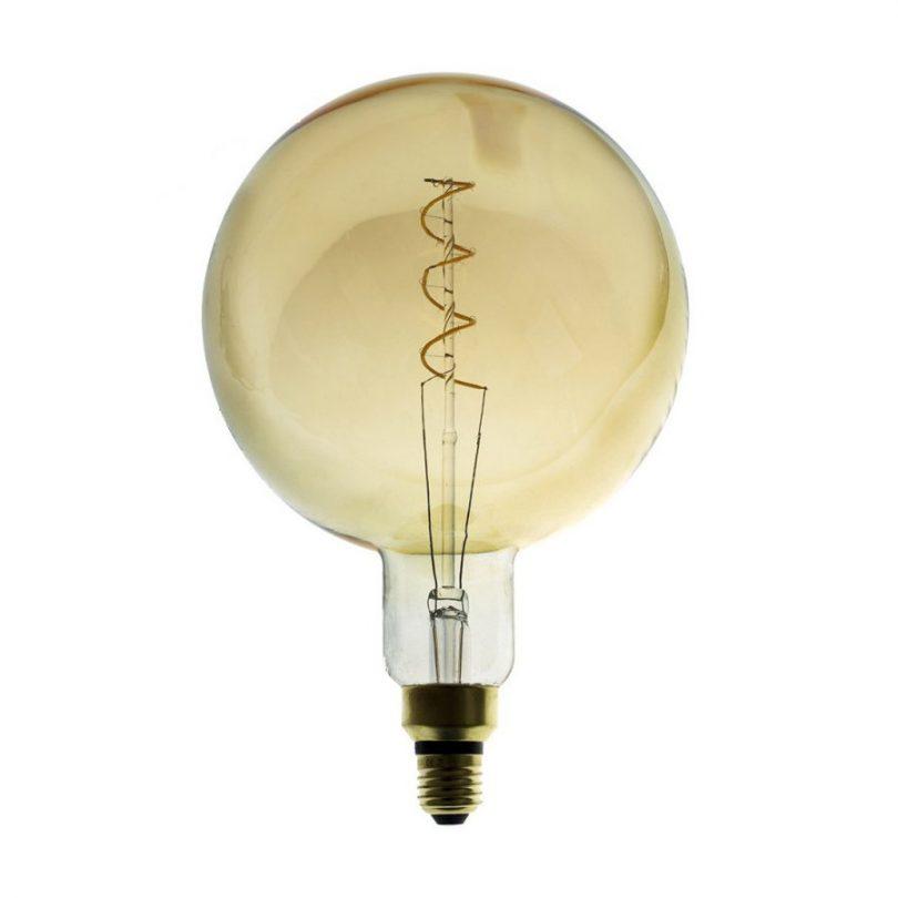 Edison Soft žiarovka, Jantárová LED žiarovka - MOON - 5W, E27, Stmievateľná, 2000K (3)