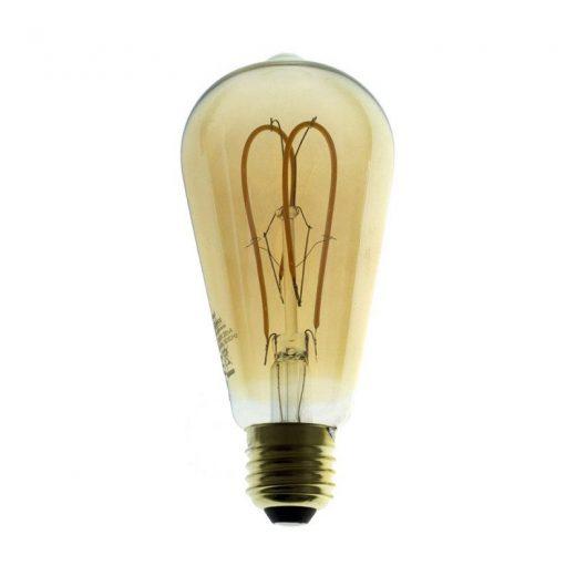 Edison Soft žiarovka, Jantárová LED žiarovka - TEARDROP - 5W, E27, Stmievateľná, 2000K (1)