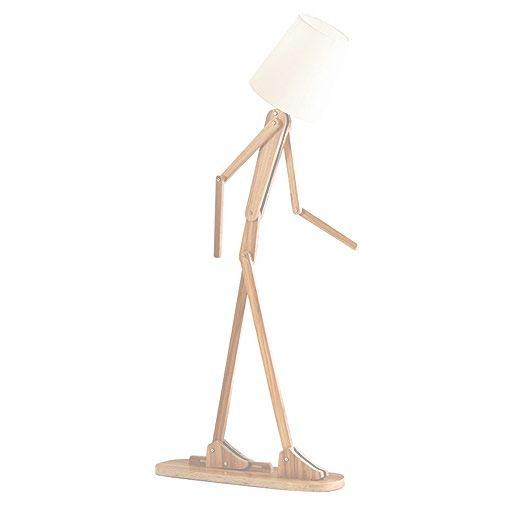 bfe5ad5cbd63e Kreatívne drevené stojacie svietidlo, polohovateľné, 160cm, svetlé drevo