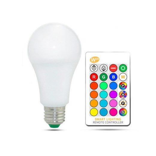 LED RGB žiarovka na diaľkové ovládanie, 16 funkcií, 15W, E27
