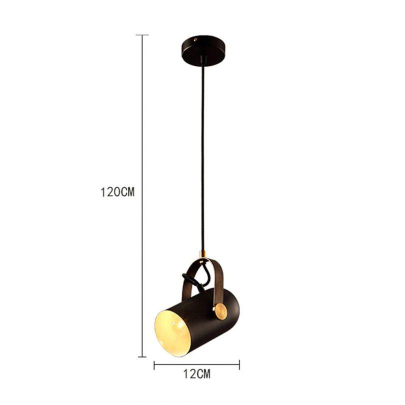 Nastaviteľná retro visiaca lampa v post modernom štýle, retro lampy (2)