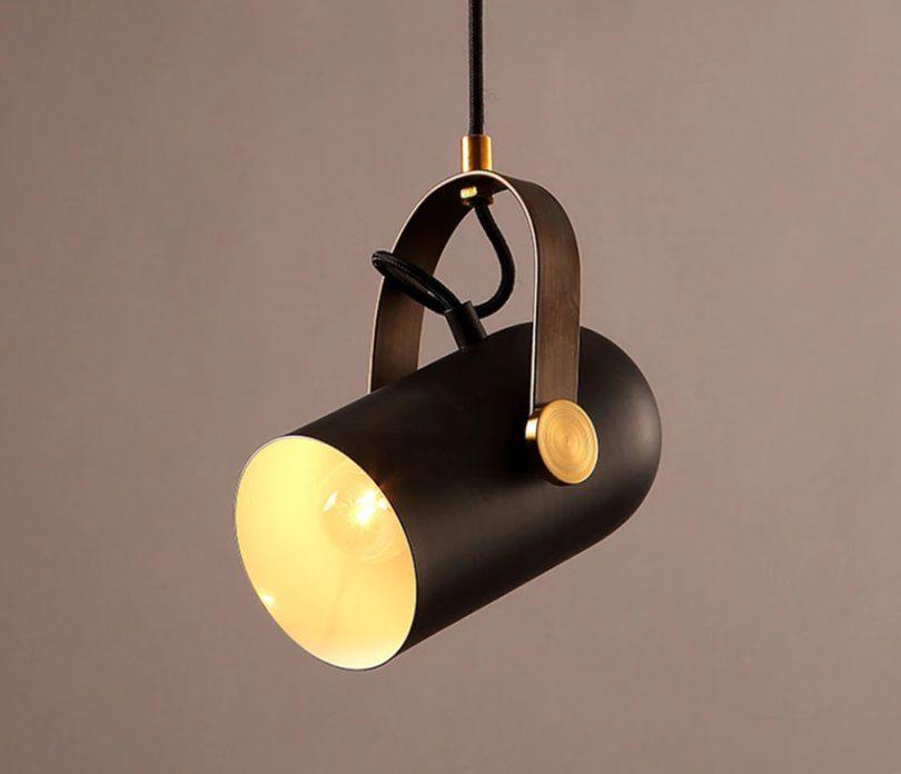 Nastaviteľná retro visiaca lampa v post modernom štýle.Je unikátne vďaka materiálu a modernému prevedeniu,ktoré neostane bez povšimnutia (3)