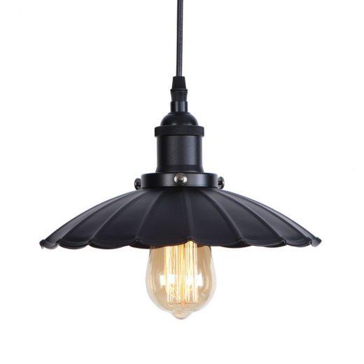 Dekoračné historické svietidlo s nastaviteľnou výškou kábla, čierna farba