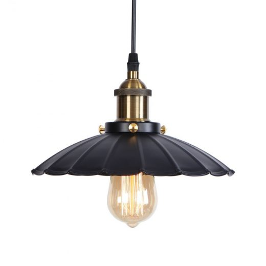 Dekoračné historické svietidlo s nastaviteľnou výškou kábla, čierno zlatá farba (2)