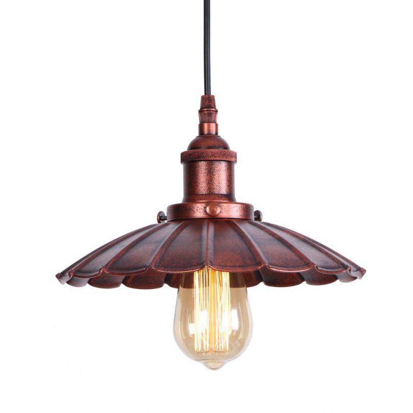 Dekoračné historické svietidlo s nastaviteľnou výškou kábla, medená farba (2)