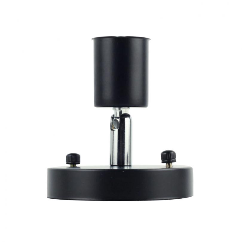 Jednoduché stropné svietidlo v modernom štýle - 180° rotácia, čierna farba