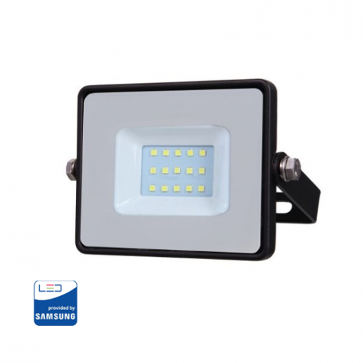 LED Reflektor 10W so SAMSUNG čipom, čierny, Studená biela
