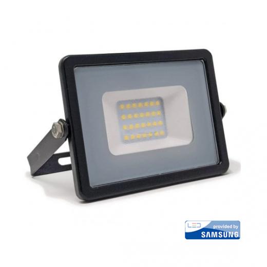 LED Reflektor 20W so SAMSUNG čipom, čierny, Denná biela